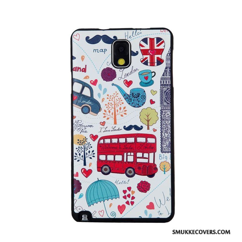Etui Samsung Galaxy Note 3 Blød Skærmbeskyttelse Hærdning, Cover Samsung Galaxy Note 3 Cartoon Telefon