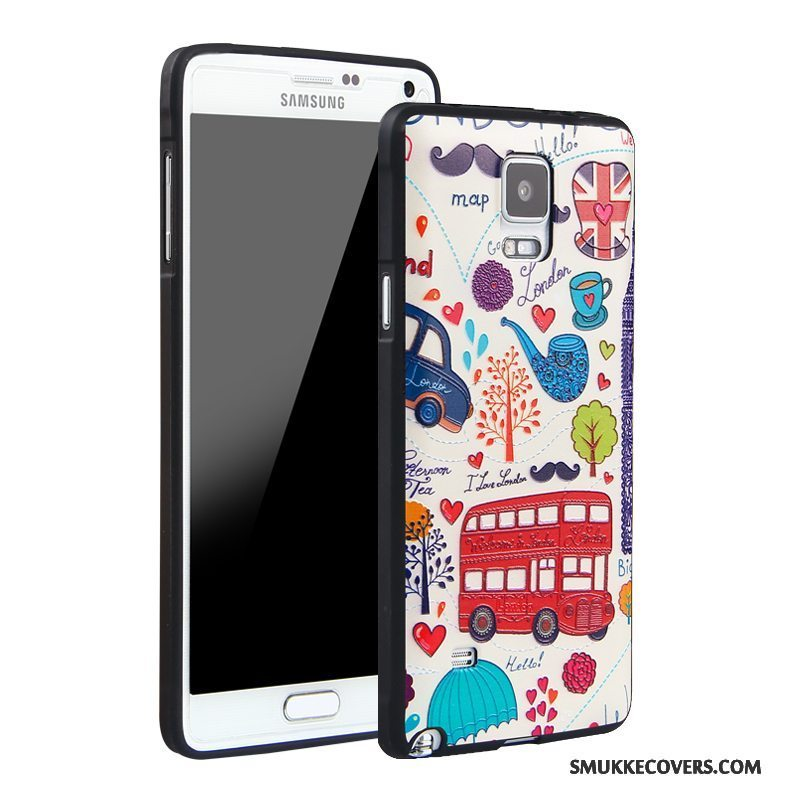 Etui Samsung Galaxy Note 4 Silikone Telefontrend, Cover Samsung Galaxy Note 4 Beskyttelse Anti-fald