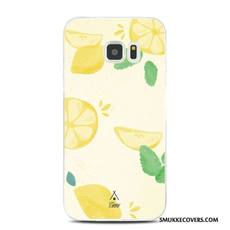 Etui Samsung Galaxy Note 5 Blød Gul Citron, Cover Samsung Galaxy Note 5 Relief Telefon