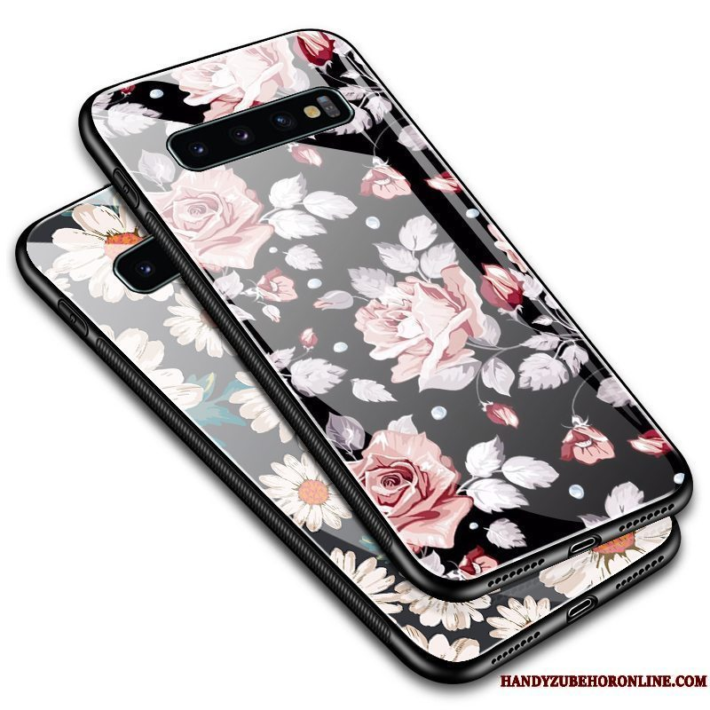 Etui Samsung Galaxy S10 Vintage Blomster Telefon, Cover Samsung Galaxy S10 Beskyttelse Simple Anti-fald