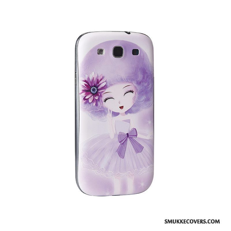 Etui Samsung Galaxy S3 Cartoon Lilla Telefon, Cover Samsung Galaxy S3 Relief Bagdæksel