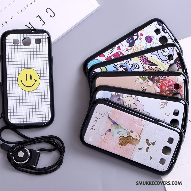 Etui Samsung Galaxy S3 Cartoon Telefonhængende Ornamenter, Cover Samsung Galaxy S3 Beskyttelse