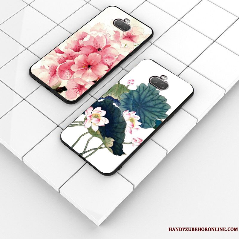 Etui Sony Xperia 10 Plus Blød Blomster Lille Sektion, Cover Sony Xperia 10 Plus Silikone Telefonlyserød