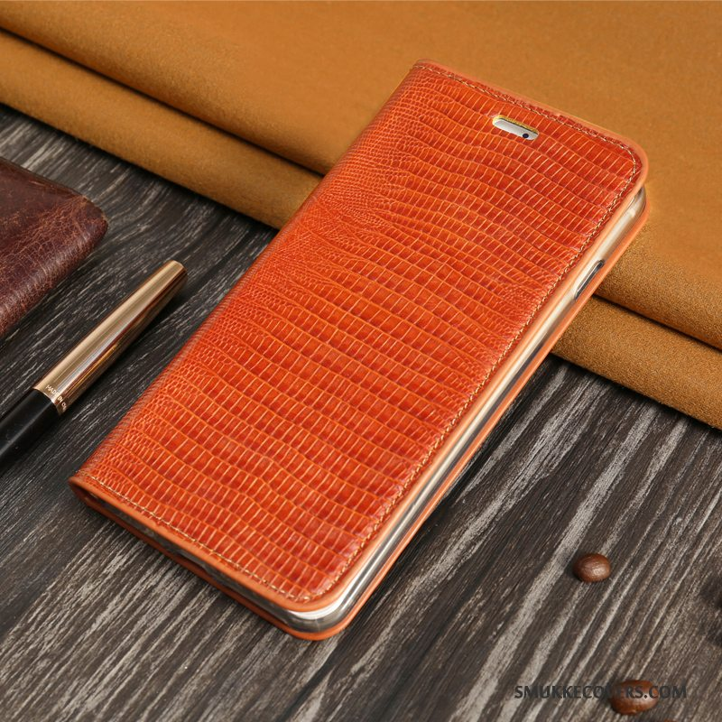 Etui Sony Xperia C4 Folio Orange Kort, Cover Sony Xperia C4 Blød Hård Business