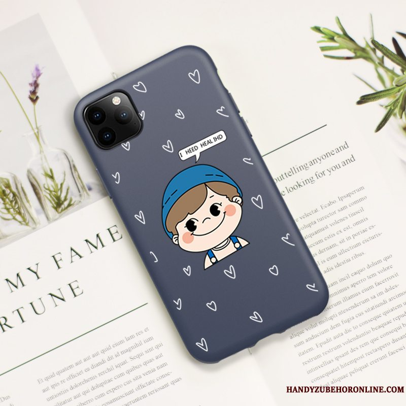 Etui iPhone 11 Pro Max Blød Trendy Elskeren, Cover iPhone 11 Pro Max Cartoon Blå Tynd