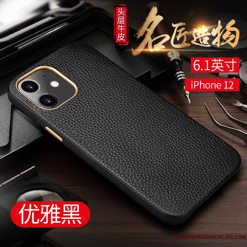 Etui iPhone 12 Luksus Lille Sektion Business, Cover iPhone 12 Beskyttelse High End Trendy