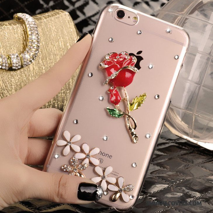 Etui iPhone 4/4s Strass Ny Rød, Cover iPhone 4/4s Beskyttelse Trend