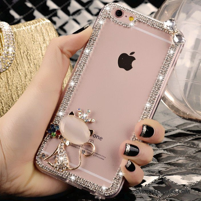 Etui iPhone 4/4s Strass Trend Lyserød, Cover iPhone 4/4s Smuk Krystal