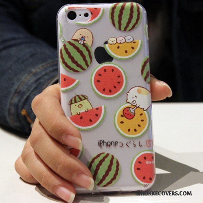 Etui iPhone 5c Silikone Blå Telefon, Cover iPhone 5c Cartoon Trend Anti-fald
