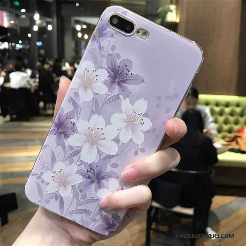 Etui iPhone 6/6s Plus Beskyttelse Blomster Lilla, Cover iPhone 6/6s Plus Blød Telefontrend