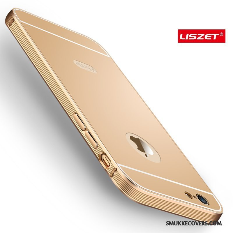 Etui iPhone 6/6s Plus Metal Anti-fald Guld, Cover iPhone 6/6s Plus Beskyttelse Ny Ramme
