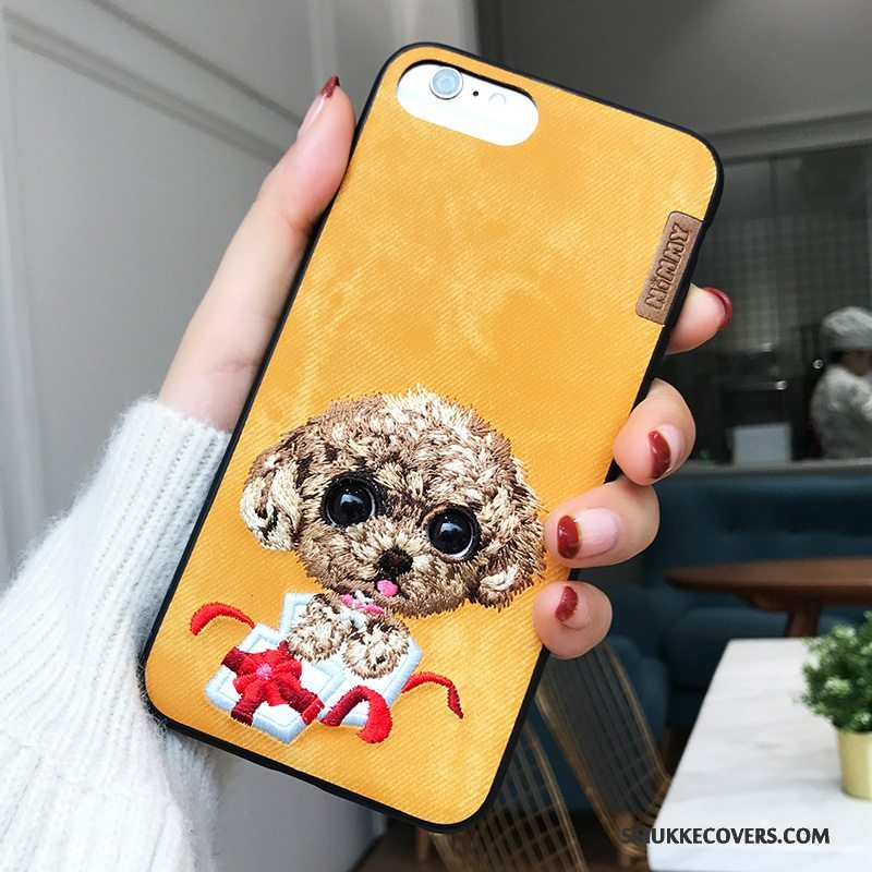 Etui iPhone 8 Plus Tasker Hund Ny, Cover iPhone 8 Plus Gul Trendy