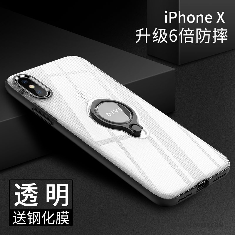 Etui iPhone X Silikone Ring Ny, Cover iPhone X Tasker Telefontynd