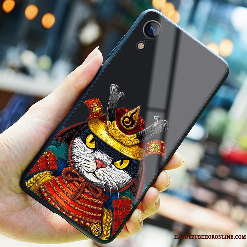 Etui iPhone Xr Kreativ Sort Ny, Cover iPhone Xr Trendy Glas