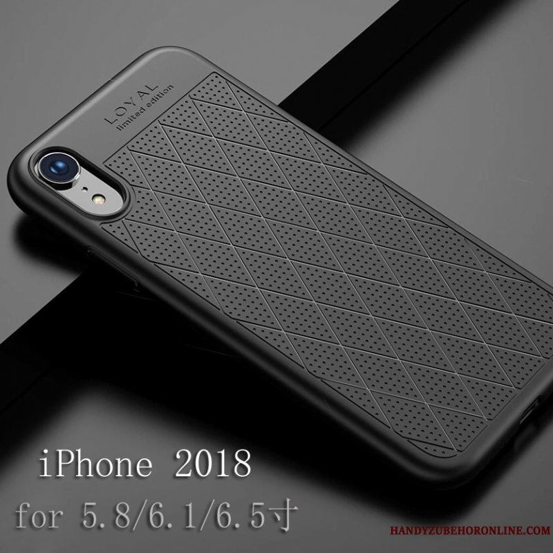 Etui iPhone Xr Tasker Anti-fald Sort, Cover iPhone Xr Blød Telefonny